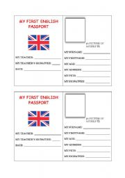 My first English Passport