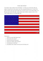 English Worksheets: stars and stripes