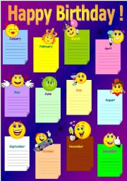 English Worksheet: Happy birthday