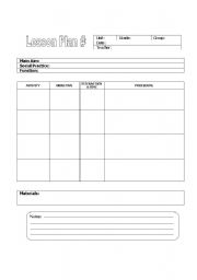 Esl worksheets for beginners lesson plan format lesson plan format pronofoot35fo Images