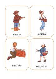 English Worksheet: JOBS FLASHCARDS 1