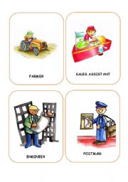 English Worksheet: JOBS FLASHCARDS 5