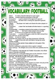 football vocabulary esl worksheet by dan1238. Black Bedroom Furniture Sets. Home Design Ideas
