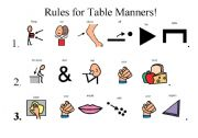 English teaching worksheets table manners for 10 good table manners