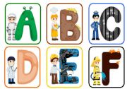 a -z flashcards with occupations