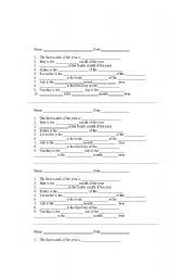 English worksheet: MONTHS AND WEEK DAYS QUIZ