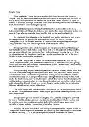 English Worksheets: Douglas Creig