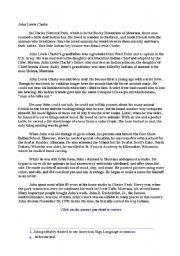 English Worksheets: John Lewis Clarke