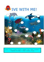 English Worksheets: DIVE WITH ME!