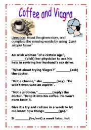 English Worksheet: Coffee vs Viagra