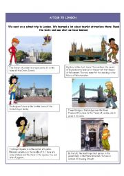 English Worksheet: A tour to London - Articles