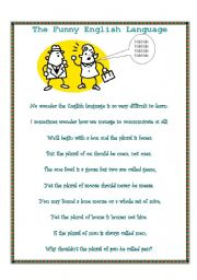English Worksheets: The Funny English Language