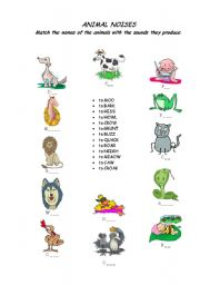 English Worksheets: Animal Noises