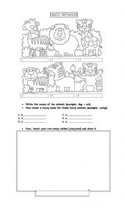 English Worksheets: Crazy animals!