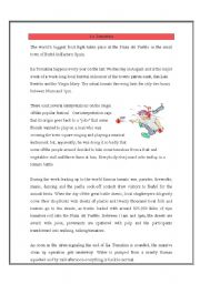 English Worksheets: La Tomatina Event