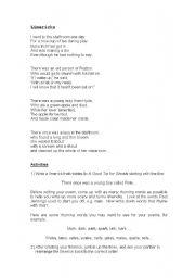 English Worksheet: Limericks & Qs
