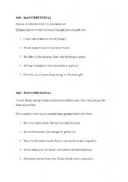English Worksheet: mixed conditionals (2nd+3rd conditional, 3rd+2nd conditional)