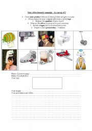 English Worksheets: make your own ad