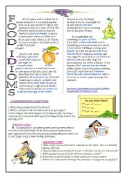 Food idioms-job interviews(4 skills)