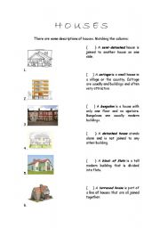 English Worksheets: Houses