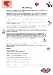 English teaching worksheets Valentines day