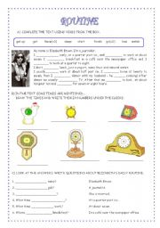 English Worksheets: ROUTINE