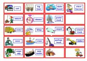 English Worksheets: Transportation Bingo ( 3 of 3 )