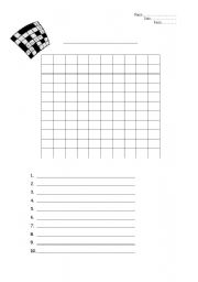 image about Blank Word Search Printable referred to as Blank Term Look - ESL worksheet via shirley99