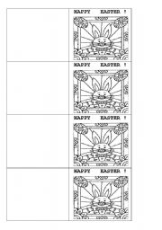 English Worksheet: Happy Easter card