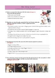 English Worksheets: MY FAIR LADY - Listening and Viewing Worksheet