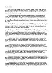 English Worksheets: Erasmus Smith