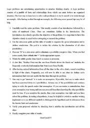 English Worksheets: Logic problem