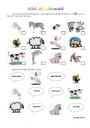English Worksheet: Old MacDonald
