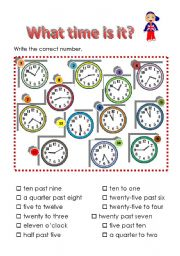 English Worksheet: Time worksheet