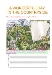 English Worksheet: A WONDERFUL DAY IN THE COUNTRYSIDE