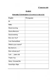 English Worksheets: Introduction to English - Greetings