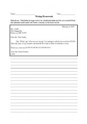 Email/Letter Writing & Vocabulary Exercises