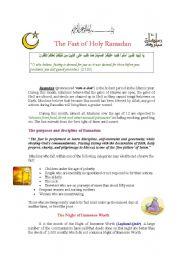 English Worksheets: The Fast Holly Ramadan