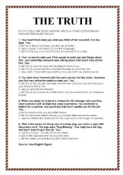 Telling the Truth: 15 Ways to Practice True-or-False Concepts ...