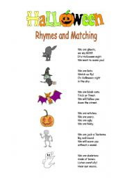 Halloween Rhymes and Matching