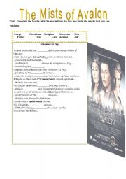 Movie lesson plan mists of avalon