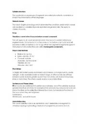 English Worksheets: phonology