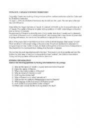 English Worksheets: NUNAVUT