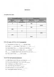 English worksheet: grammar exercises