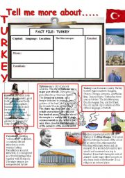 English Worksheet: Tell me more about......TURKEY