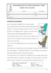 English Worksheet: English Test 6th form