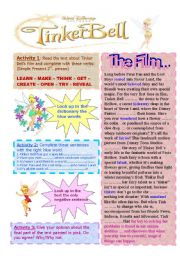English Worksheets: TINKER BELL