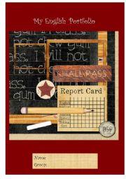 Portfolio Cover Reflection Esl Worksheet By Hlvf714