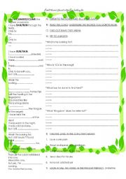 English Worksheet: I still haven´t found what i´m looking for