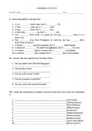 English Worksheets: combo of activities